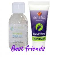 best friends pakket, desinfecterende handgel, handcreme, mijngezondehuid.nl